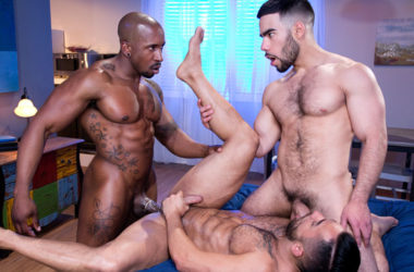 "Max Konnor and Papi Suave fuck Bruno Bernal from both sides in ""The Super"" part 5"