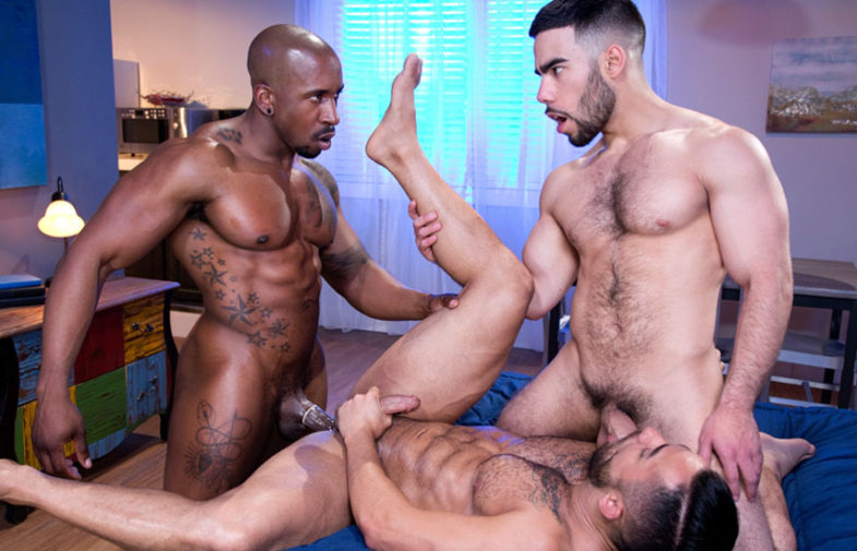"""Max Konnor and Papi Suave fuck Bruno Bernal from both sides in """"The Super"""" part 5"""
