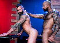 """Hairy studs Drake Masters and Daymin Voss flip-fuck in """"Furgasm"""" part 1 – Raging Stallion"""