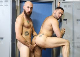 Dustin Steele works his big raw cock into Julian Knowles' bubble butt at Reality Dudes
