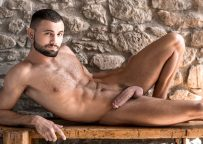 Hung Euro hunk Jeffrey Lloyd bottoms for Dylan James and fucks Andy West