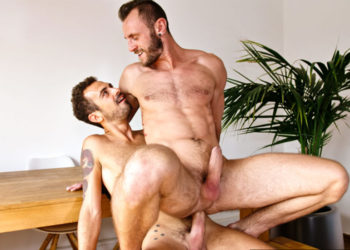 Vic Valentine is back at TimTales and takes Koldo Goran's huge raw cock