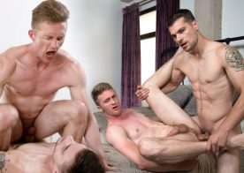 Ty Derrick bottoms for Princeton Price and swallows his load at Next Door Studios