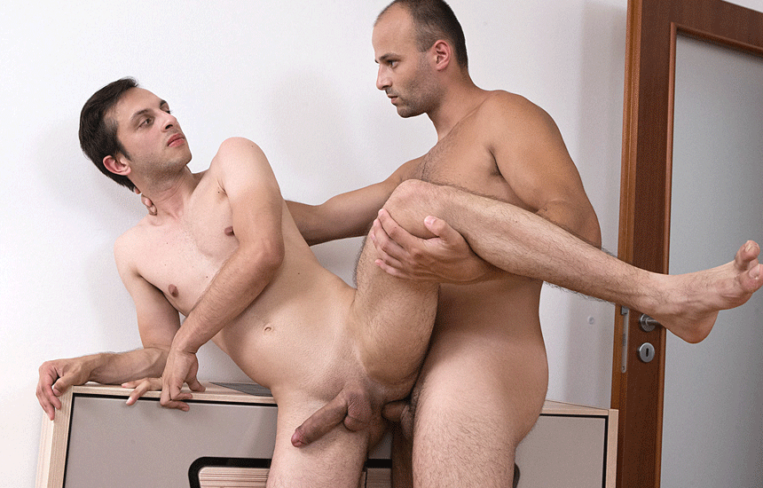 """Sam dominates and fucks Kotly in """"Spit Polish My Hole"""" from Bromo"""