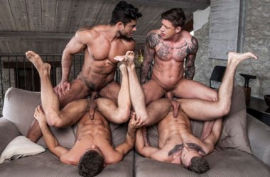 Geordie Jackson and Diego Lauzen fuck Klim Gromov and Yuri Orlov at Lucas Entertainment