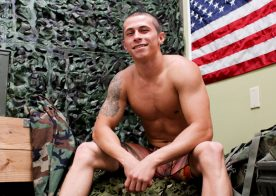 Bradley Hayes beats his thick cock in his Active Duty debut