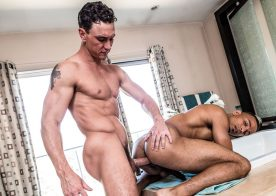 "Zario Travezz bottoms for Cade Maddox in Noir Male's ""The Morning After"""