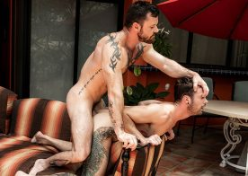 "Sergeant Miles dominates Drake Rogers and fucks him in ""Bareback Cuckolds"" part two"