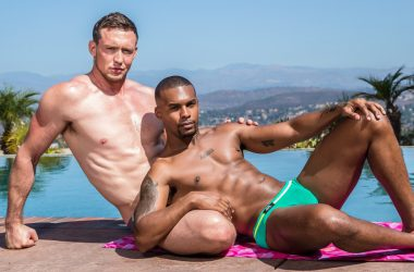 "Jacen Zhu and Pierce Paris fuck each other in ""The Once Over"" from Noir Male"