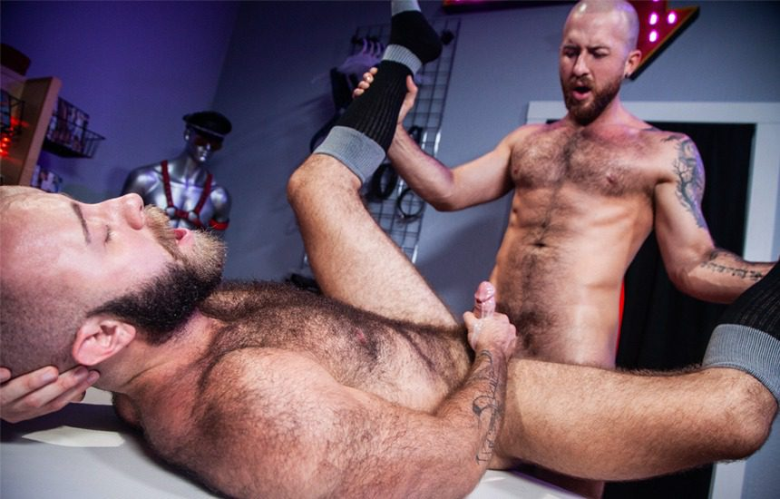 "Teddy Bear takes Nigel March's big cock in ""Otter Erotic"" part two from Raging Stallion"