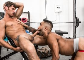 "Tyler Roberts pounds Remy Cruze in ""Gym Rat"" from Noir Male"