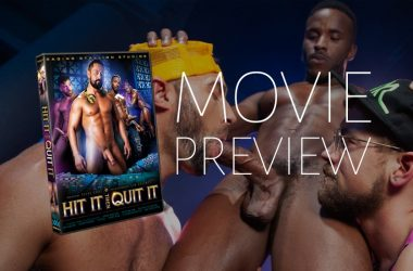 "Here's a quick look at Raging Stallion's latest movie ""Hit It Then Quit It"""