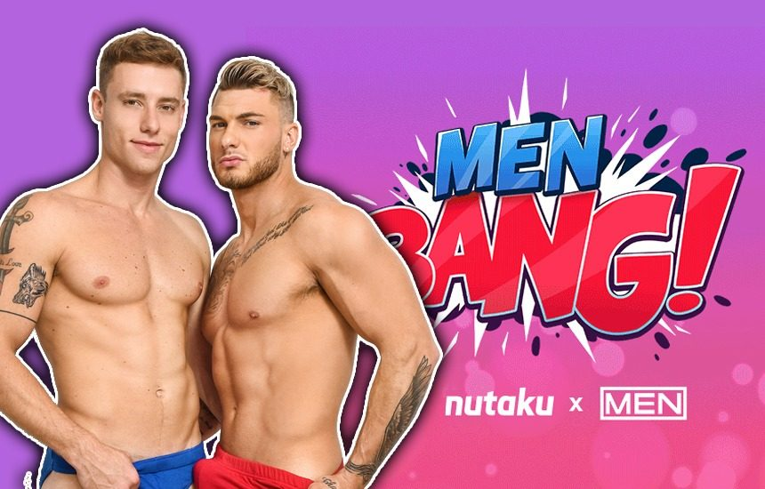 MEN BANG! Men.com celebrates Nutaku's latest gay adult game with the release of a new series