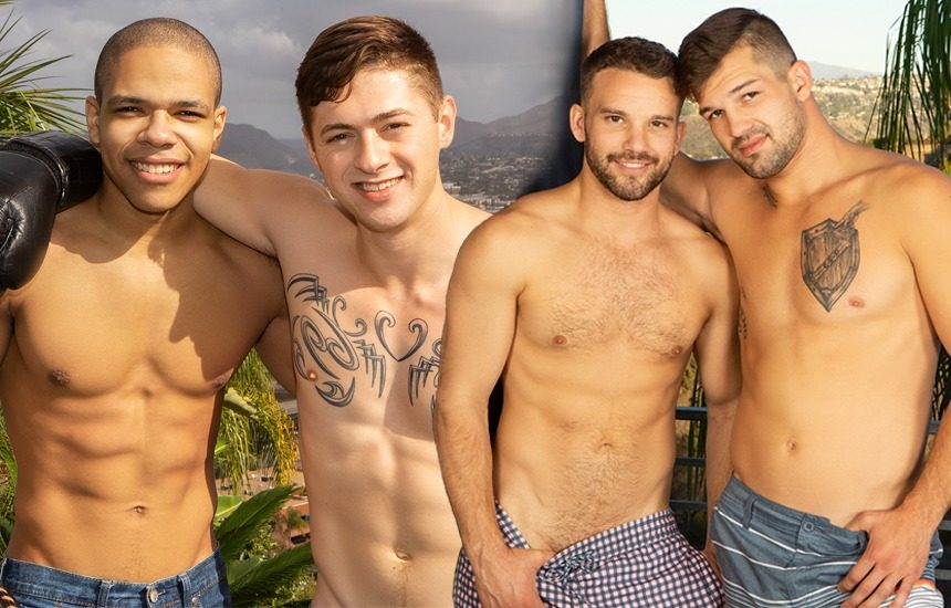 Sean Cody newcomer Maddox fucks Lane while Jackson bottoms for Brysen