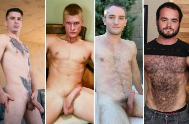 Solo performances: James Sinner, Logan Piper, Blake Effortley and Steve Strongarm jerk off
