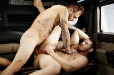 "Spencer Whitman gets fucked by Brian Michaels in Bromo's ""Stretch Me Bro"""
