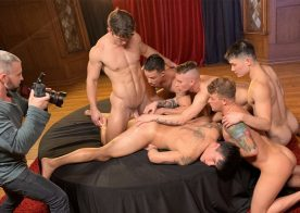"""Tony Dimarco and Chi Chi LaRue have teamed up to film """"The Pledge"""" for Falcon Studios"""