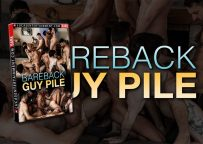 """Lucas Entertainment's """"Bareback Guy Pile"""" contains 4 hot scenes including an 11-guy orgy"""