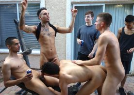 """Hollden Coldwater gets stuffed full of dick in """"Beer Load Drop"""" – Fraternity X"""