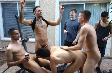 "Hollden Coldwater gets stuffed full of dick in ""Beer Load Drop"" – Fraternity X"