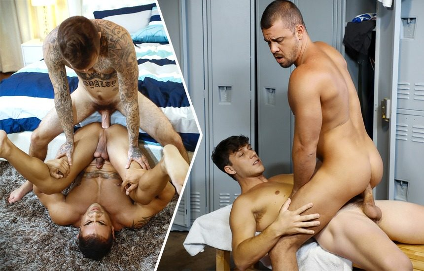 Bromo update: Brian Michaels fucks Draven Navarro & Darin Silvers bottoms for Paul Canon