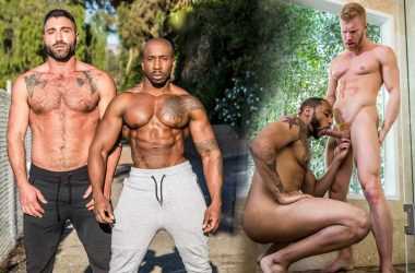 Noir Male update: Max Konnor fucks Luca Miklos and Johnny V bottoms for Jaxx Maxim