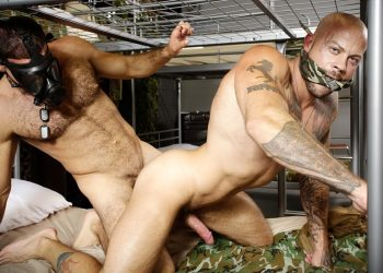 "Ricky Larkin fucks fellow soldier Sean Duran in ""Barracks Buddies"" from Bromo"