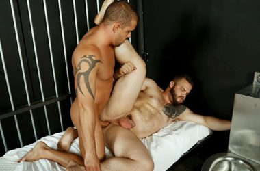 "Darin Silvers fucks Dax Carter's big ass in ""Cellmates 2"" from Bromo"
