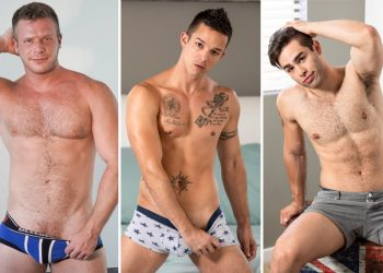 Nic Sahara fucks Brian Bonds and Lucas Leon at Icon Male