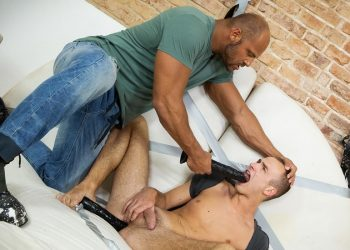 Zack Hood (aka Tomm) stuffs David's every hole with dildos and his raw cock