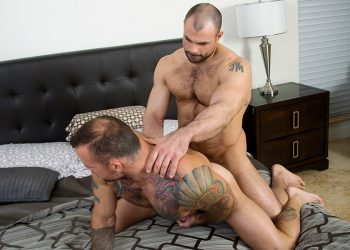 "Jaxx Thanatos plows Sean Duran's bare ass in Bromo's ""Sneaky Shower Fuck"""