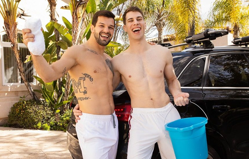 Brysen rims and fucks Angelo's delicious ass at Sean Cody