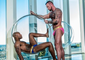 "Michael Roman takes Osiris Blade's big cock in ""Work Out Warm Up"" from Noir Male"