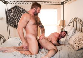 "Hot daddies Colby Jansen and Billy Santoro fuck in ""Revenge #02"" part 3 from Icon Male"