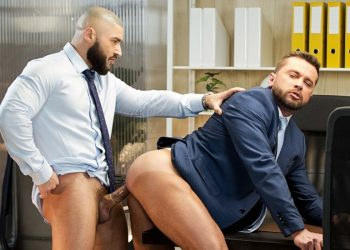 "Hot studs Francois Sagat and Tyler Berg fuck each other in Men At Play's ""To Work Or To Fuck"""