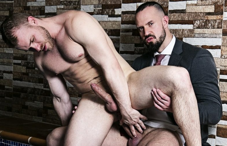 """Malek Tobias takes Andy Onassis' thick cock in """"Make Me Wet"""" from Men At Play"""