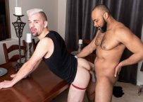 Ray Diesel slams his huge cock deep into Josh Stone's bare hole
