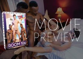 "A look at ""Room 106"" from Falcon Studios: 11 hot studs fuck in 5 bareback scenes"