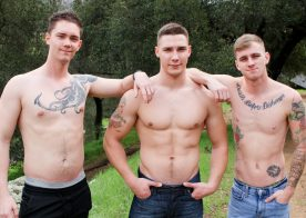 Spencer Laval and Logan Lane spit-roast Ryan Jordan at Active Duty