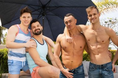 Sean Cody: Brysen fucks Riley and Jayce gets his ass fucked by Jaymus
