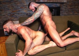 """Bearded studs Marco Napoli & Alexander Kristov fuck in """"At Large"""" part 2 from Raging Stallion"""