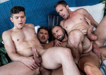 Tyler Roberts and Jeffrey Lloyd fuck Dakota Payne and Drake Rogers at Lucas Entertainment