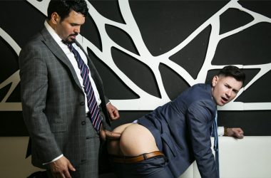 "Club manager Jean Franko fucks DJ Lukas Daken in ""121 BPM"" from Men At Play"