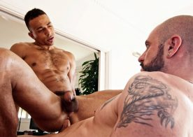 Hot Spanish fucker Vicman uses his big meat to stretch Zario Travezz's hole