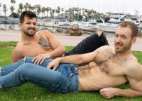 Furry Sean Cody newcomer Michael jerks off and bottoms for Brysen