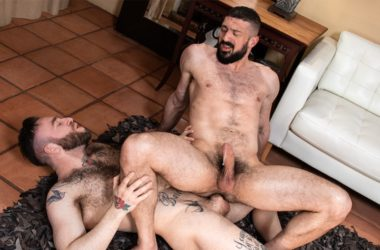Bearded studs Marco Napoli and Manuel Scalco flip-fuck at Raging Stallion