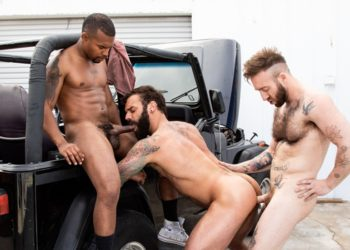 "Drake Masters, Jacen Zhu and Manuel Scalco fuck in ""Haulin' Ass"" part two"