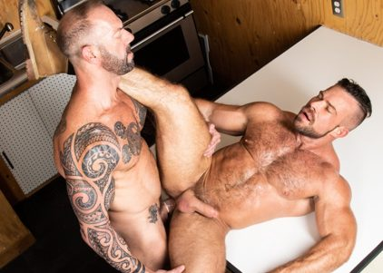 """Vic Rocco rims and fucks Liam Knox's ass in """"Haulin' Ass"""" part five"""