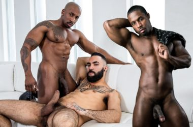 "Zaddy bottoms for Max Konnor & DeAngelo Jackson is Noir Male's ""Man of the Month"""