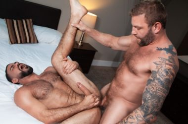 "Colby Jansen barebacks Ricky Larkin in ""Hot, Raw and Ready"" part 5 from Raging Stallion"